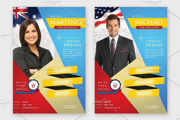 Election campaign political flyer flyer templates on for Political brochure templates