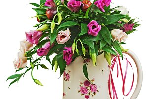 Colorful flower bouquet from roses a