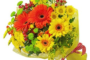 Colorful bouquet from gerbera flower