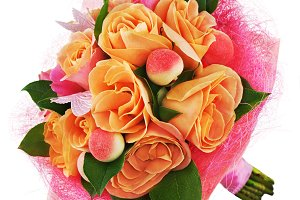 Colorful flower bouquet from roses i