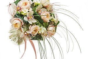Flower arrangement of peon flowers a