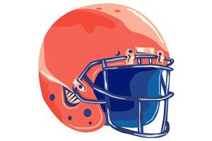 American Football Helmet WPA