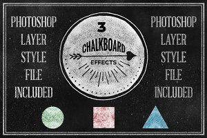 Chalkboard Photoshop Layerstyle