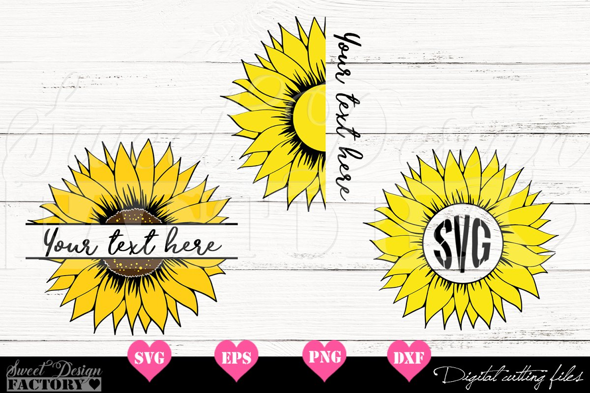 Download Sunflower SVG monogram | Custom-Designed Illustrations ...
