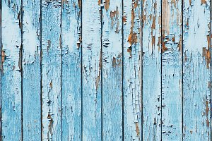 Old blue wood plank background. Clos