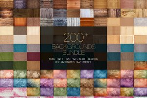 200+ Backgrounds Bundle