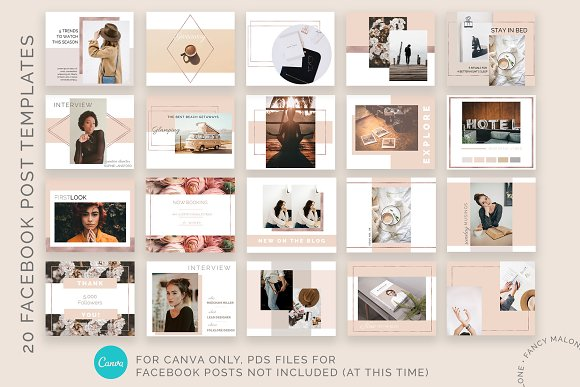 Rose Gold Social Media Bundle Canva in Instagram Templates - product preview 9