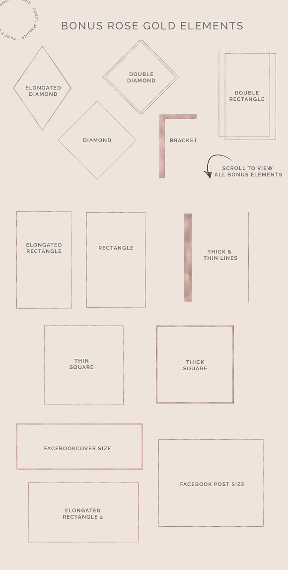 Rose Gold Social Media Bundle Canva in Instagram Templates - product preview 10