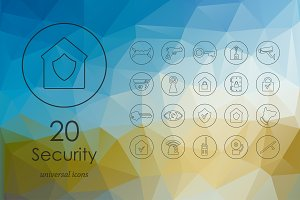 20 security icons