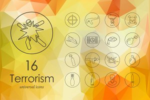 16 terrorism icons