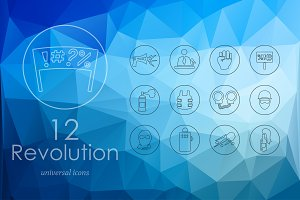 12 revolution icons
