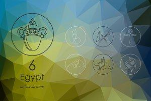 6 Egypt icons