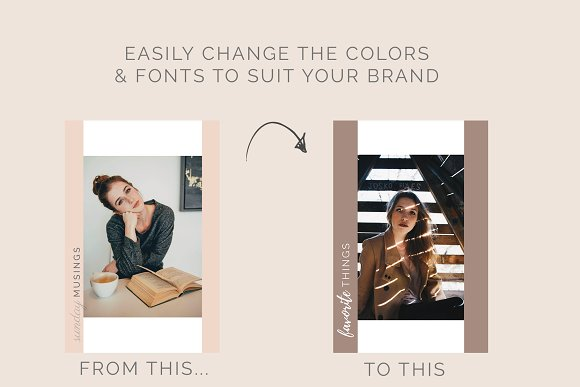 Rose Gold Social Media Bundle Canva in Instagram Templates - product preview 11