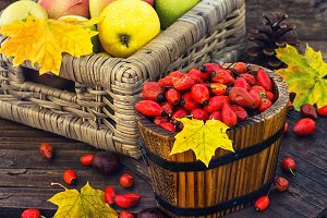 Still life with autumn apples