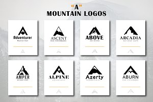 "Mountain Logos ""A"" Letter Shape"
