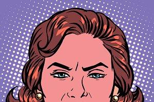 Retro Emoji wicked woman face