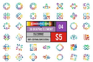 36 Graphic Element Bundle #4