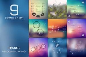 9 France infographics