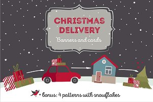Christmas delivery banners
