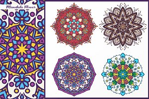 Abstract Flower and Mandala Set 4