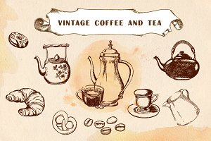 Vintage coffee and tea