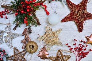 Different handmade Christmas tree