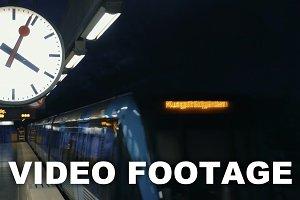 Modern metro train arriving