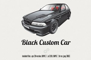 Black Custom Car