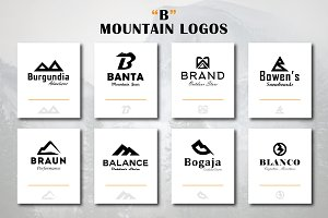 "Mountain Logos ""B"" Letter Shape"