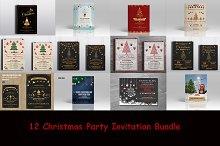 12 Christmas flyer Bundle