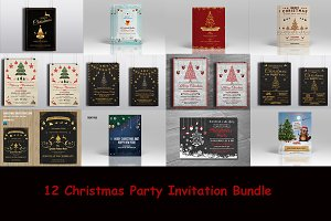 12 Christmas flyer Bundle