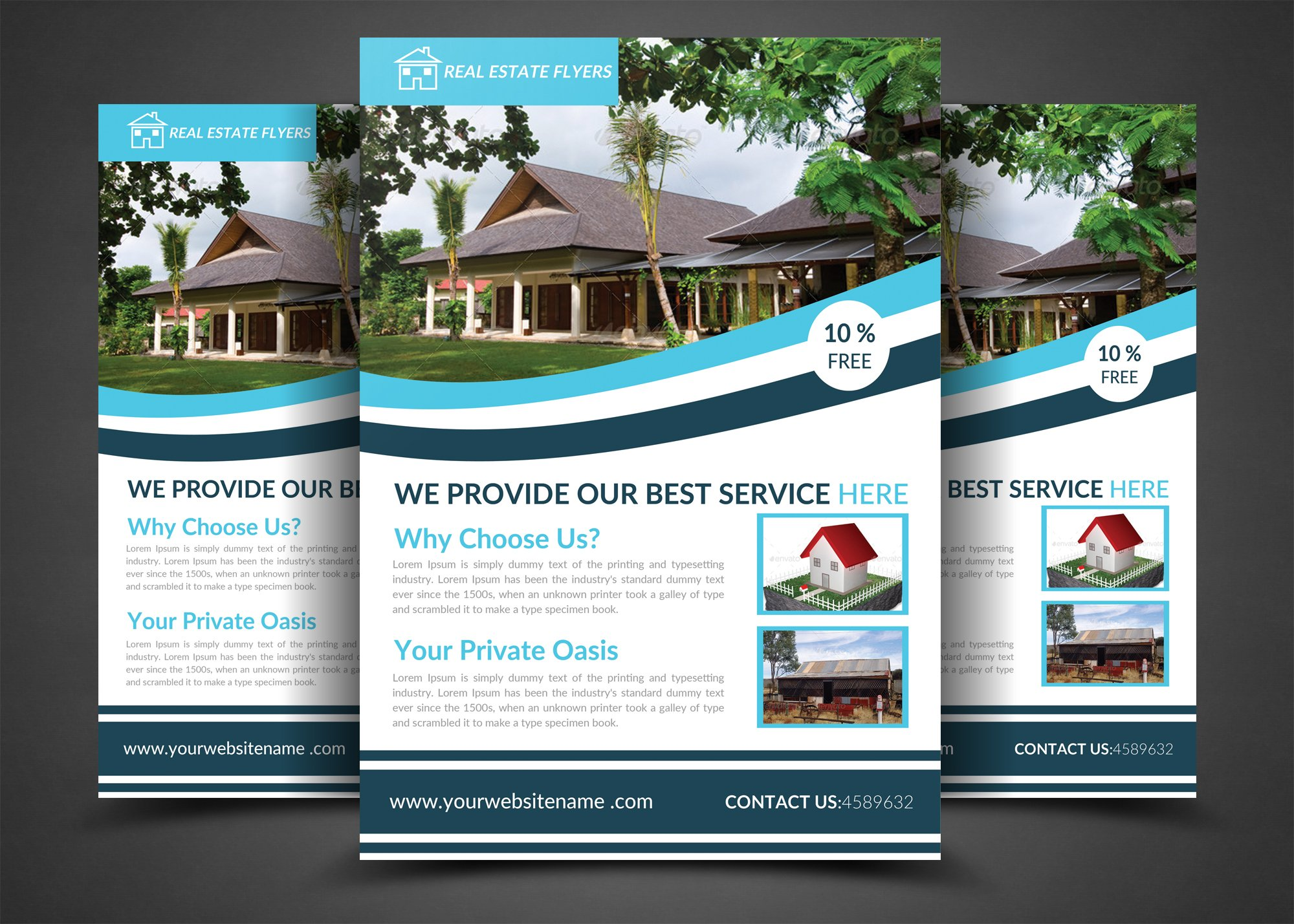 real estate flyers flyer templates creative market