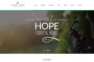 Vineyard Church - One Page Theme