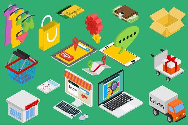 Online shopping - isometrics items