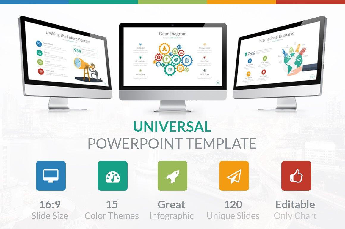Universal powerpoint template presentation templates creative market toneelgroepblik Choice Image