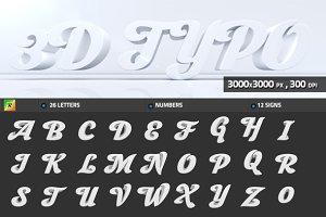 3D Typo (Trasparent PNG)
