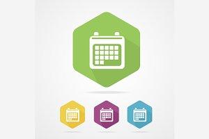 Calendar Organizer Flat Icon Set