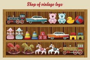 Shop of vintage toys
