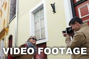 Cameraman with Vintage Camera