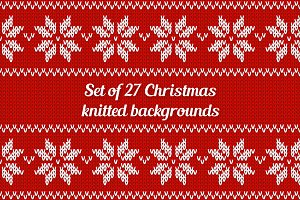 Set of 27 Christmas seamless pattern