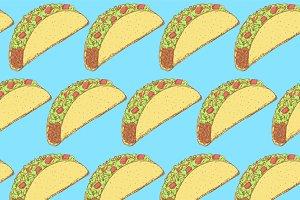 Sketch mexican taco