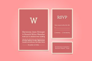 Simple Wedding Invitation Set