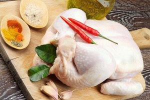Raw Chicken Ready to Roast