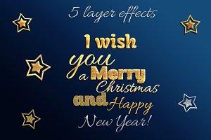 5 Glitter Layer Styles