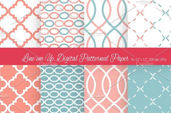 Line 'em Up, Digital Paper 4