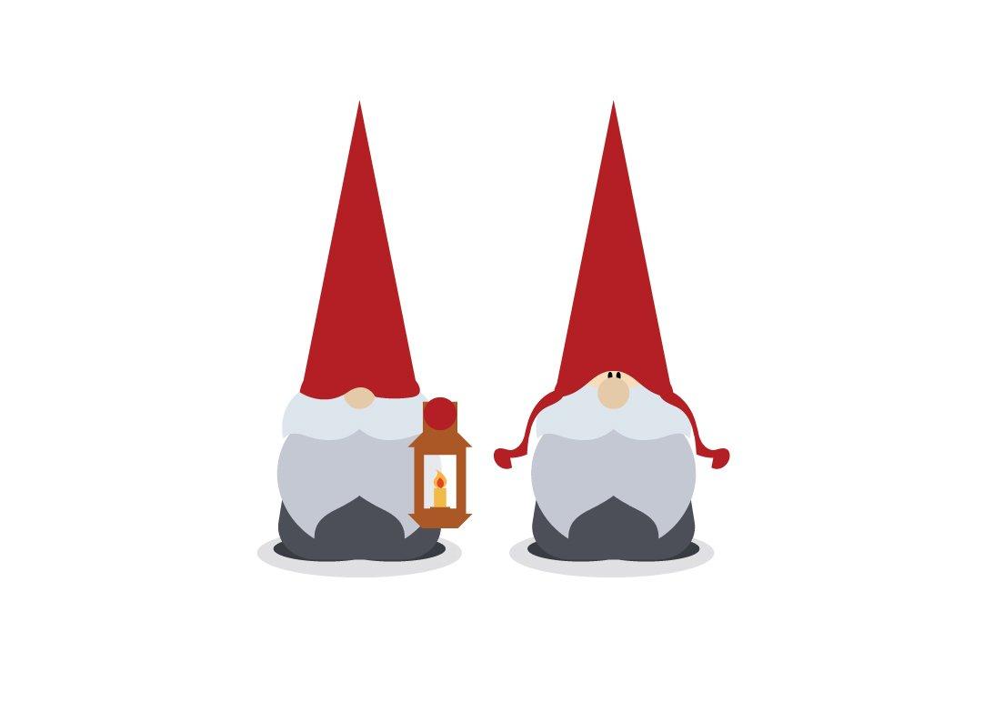 Gnome Clip Art: Vector Scandinavian Christmas Gnomes