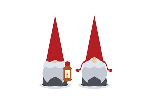 Vector Scandinavian Christmas Gnomes