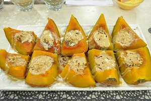 molasses sesame pumpkin dessert