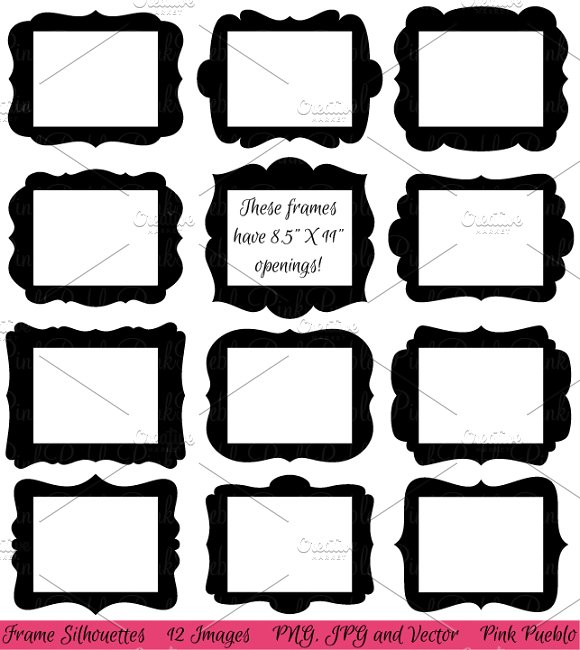 85 X 11 Frames Clipart Vectors Illustrations Creative Market