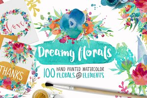 Dreamy Florals Watercolor Bundle
